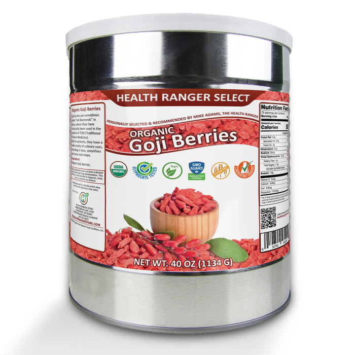 Organic Goji Berries (40oz, #10 can) (2-Pack)