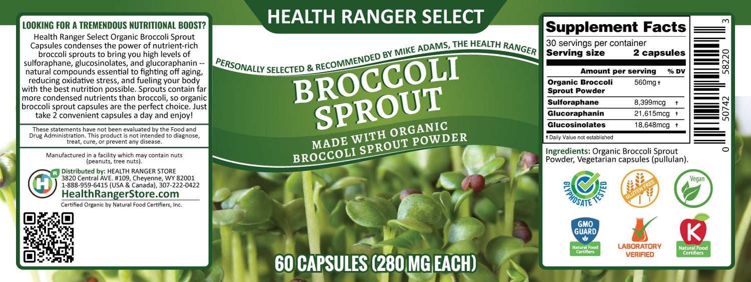 Broccoli Sprouts - 60 capsules - with Organic Broccoli Sprout Powder