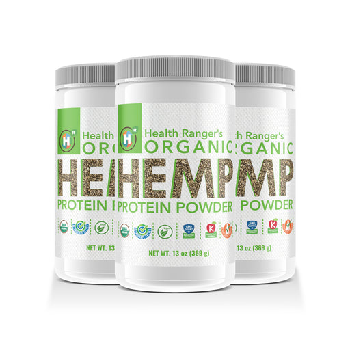 Organic Hemp Protein Powder - 13oz 369g (3-Pack)