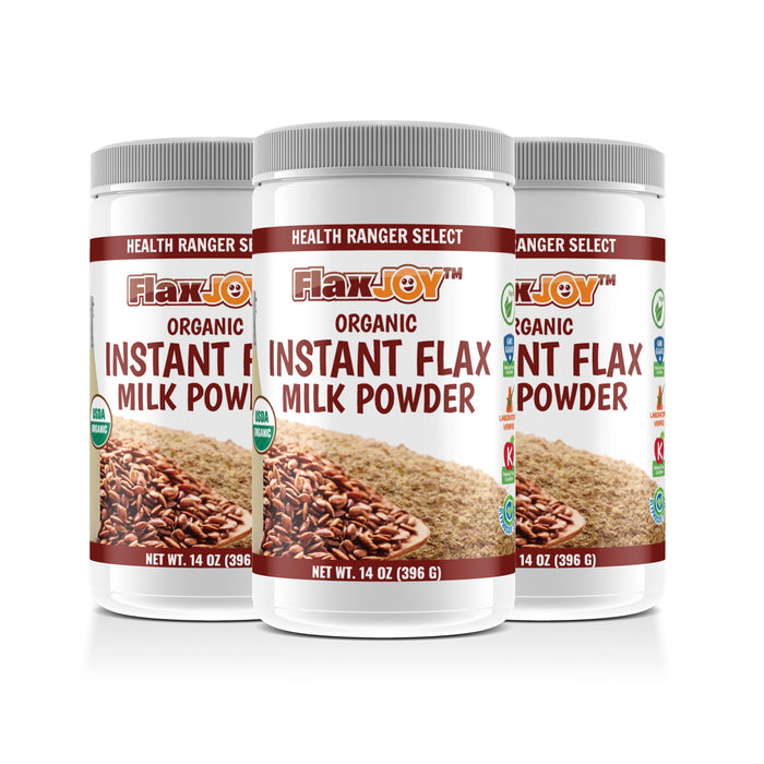 FlaxJoy™ Organic Instant Flax Milk Powder 14oz (396g) (3-Pack)