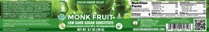 Monk Fruit Extract Powder - Low Carb Sugar Substitute 0.7oz (20g) (3-Pack)