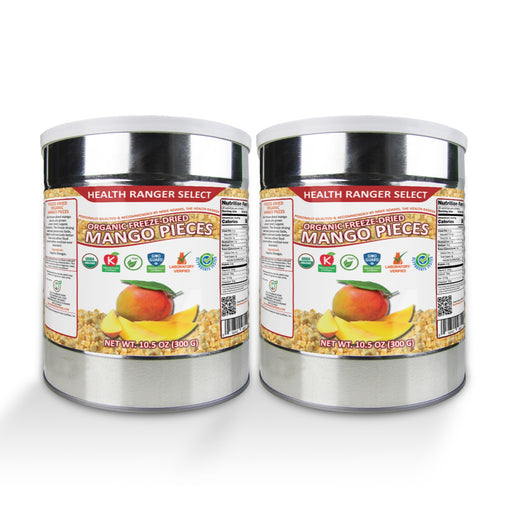 Freeze-Dried Organic Mango Pieces (10.5oz, #10 can) (2-Pack)
