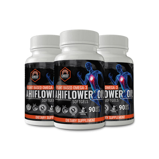 Ahiflower Oil 90 Softgels (3-Pack) - Plant-Based Omega 3-6-9