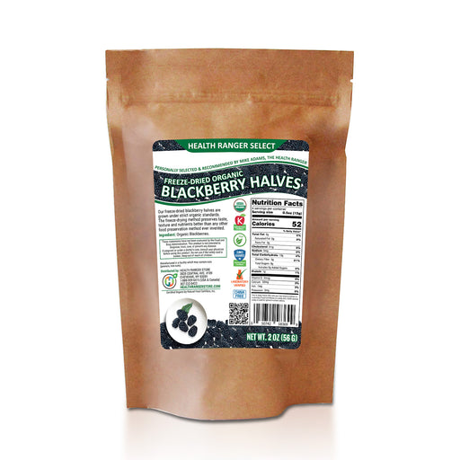 Freeze-Dried Organic Blackberry Halves 2 oz (56g)