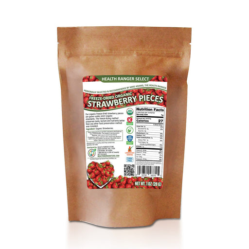 Freeze-Dried Organic Strawberry Pieces 1oz (28g)