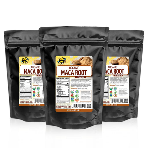 Groovy Bee® Organic Maca Root Powder 16oz (453g) (3-Pack)