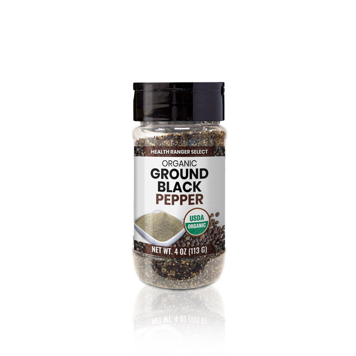 Organic Ground Black Pepper 4oz (113g)