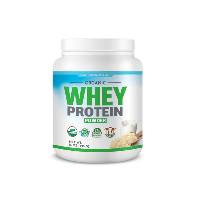 Organic Whey Protein Powder 15 oz (425g) (6-Pack)