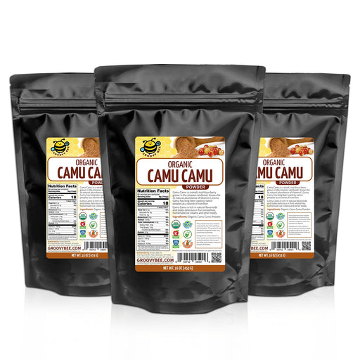 Groovy Bee® Organic Camu Camu Powder 16oz (453g) (3-Pack)