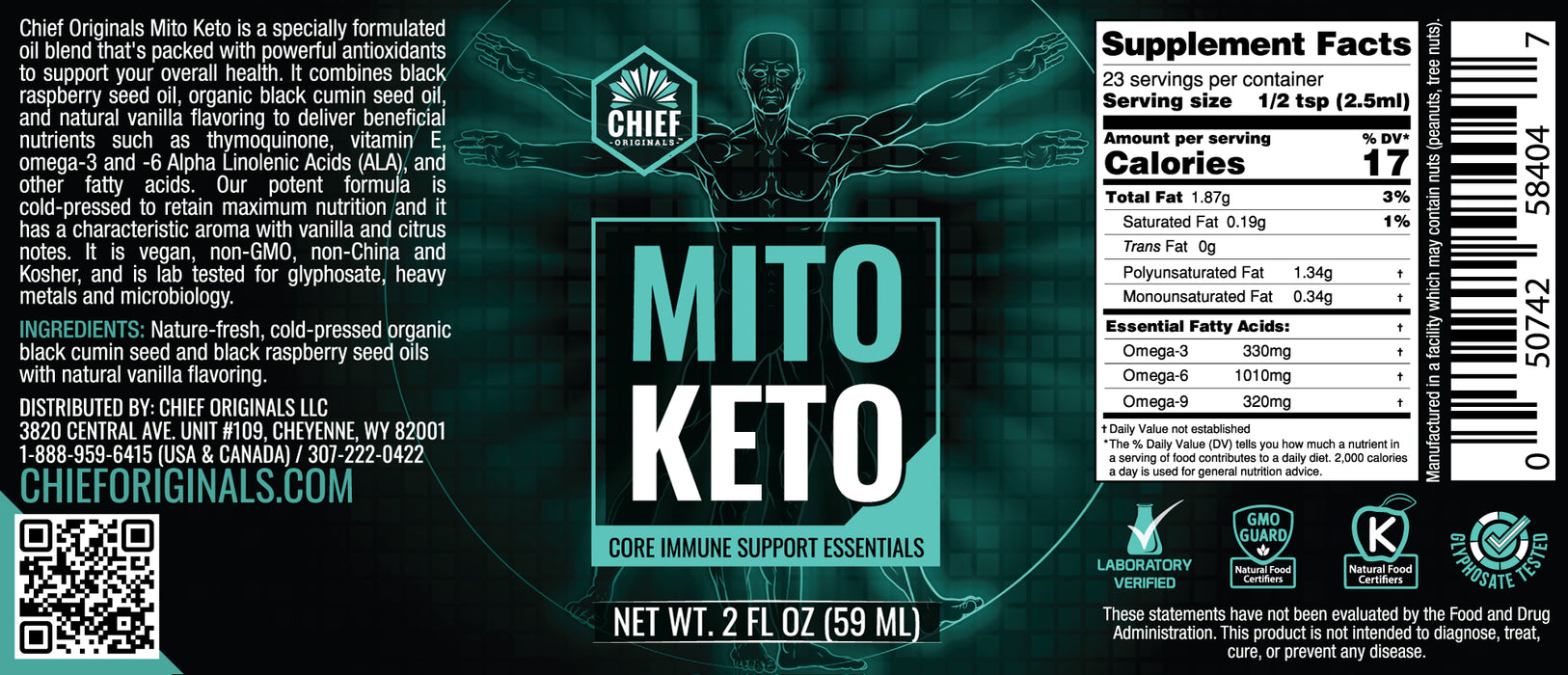 Mito Keto - Core Immune Support Essentials 2fl oz (59ml) (6-Pack)