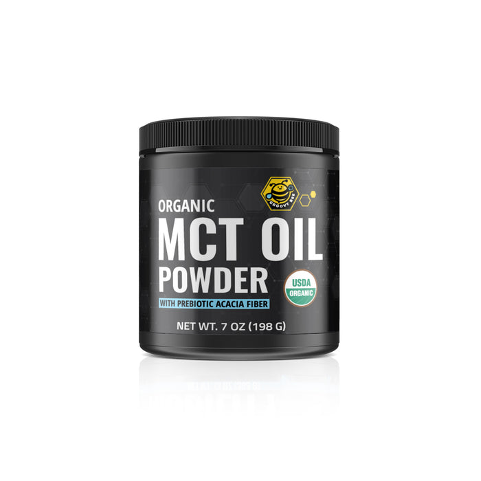 Groovy Bee® Organic MCT Oil Powder - With Prebiotic Acacia Fiber 7oz (198g) (6-Pack)
