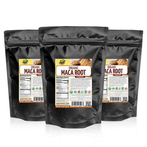 Groovy Bee® Organic Maca Root Powder 14oz (396g) (3-Pack)
