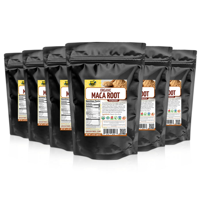 Groovy Bee® Organic Maca Root Powder 14oz (396g) (6-Pack)