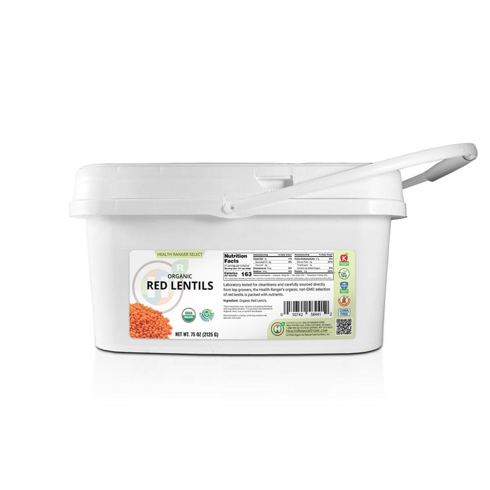Mini Bucket - Organic Red Lentils 75 oz (2125 g)
