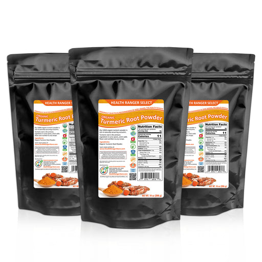 Organic Turmeric Root Powder 14oz (396g) (3-Pack)