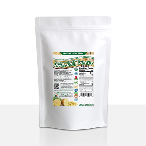 Organic Freeze Dried Pineapple 1.5oz (43g)