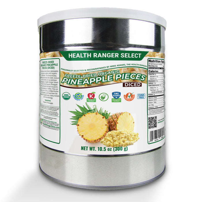 Organic Freeze Dried Pineapple 10.5oz (300g) (2-Pack)
