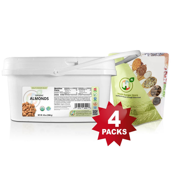 Mini-Bucket Organic Almonds 48oz (1360g)