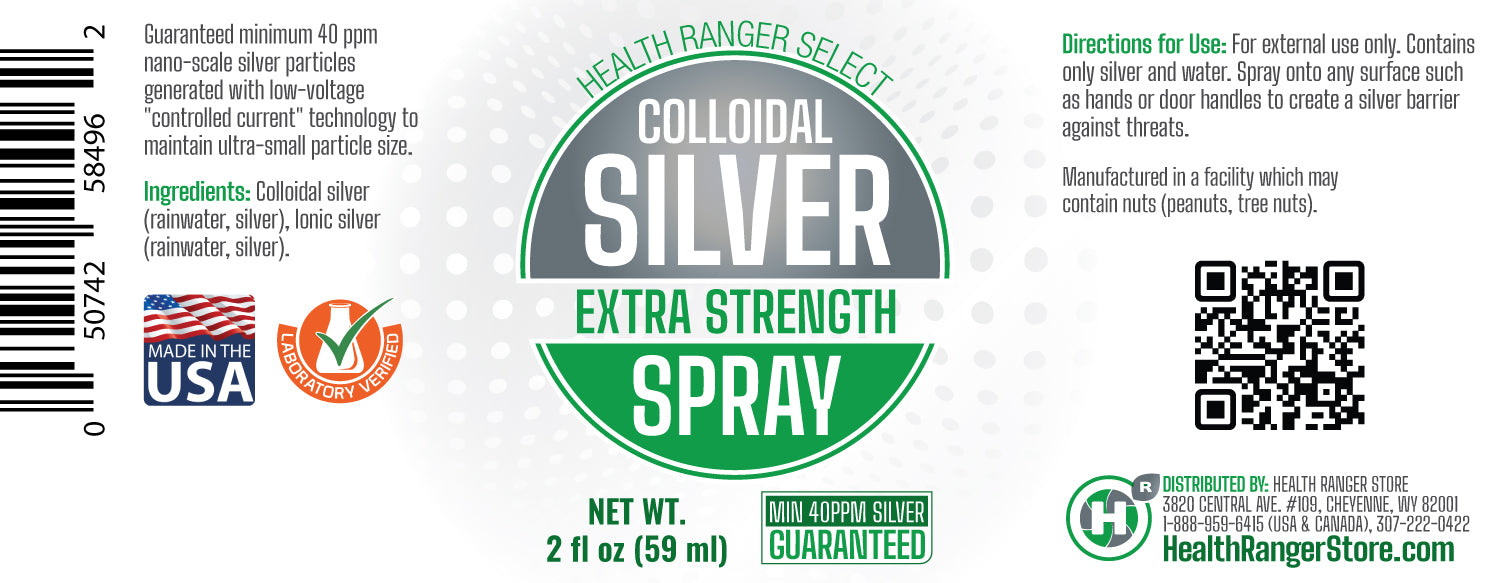 Colloidal Silver Extra Strength Spray 2 fl oz (59 ml) - 40ppm