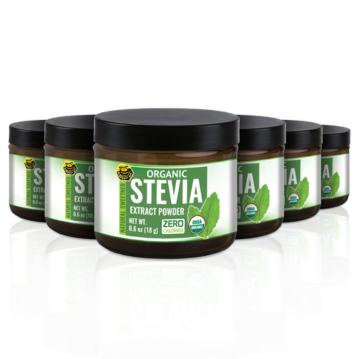 Organic Stevia Extract Powder 0.6oz (18g) (6-Pack)