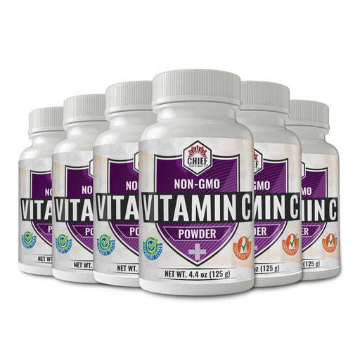 Non-GMO Vitamin C Powder 4.4oz (125g) (6-Pack)