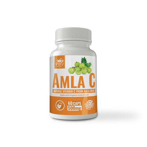 Amla C (Natural Vitamin C from Amla Fruit) 60 Caps (500 mg each) (Made With Organic Ingredients)