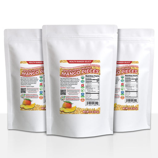 Organic Freeze-Dried Mango Pieces 2 oz (57g) (3-Pack)