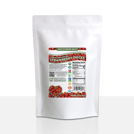 Freeze-Dried Organic Strawberry Pieces 1.5 oz (43 g)