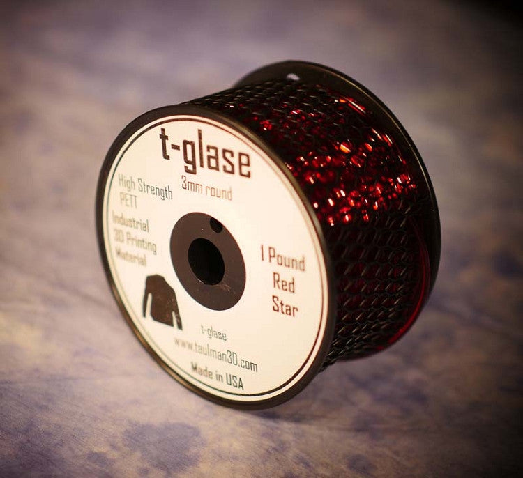 3mm t-glase filament for 3D printing- Red (1LB)