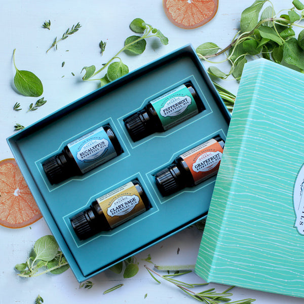 Health Ranger Select 100% Essential Oils 15ml (4-Pack Gift Set B)
