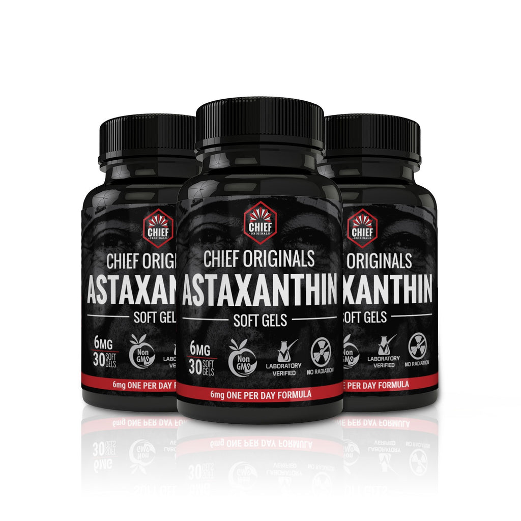 Astaxanthin 6mg 30 Softgels (3-Pack) - Supports Joint, Skin & Eye Health