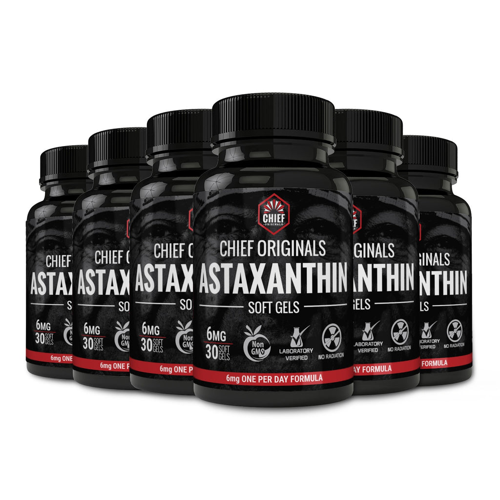 Astaxanthin 6mg 30 Softgels (6-Pack) - Supports Joint, Skin & Eye Health
