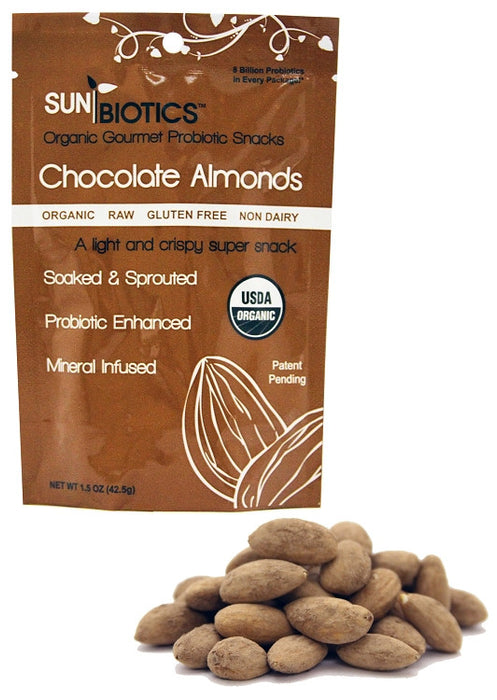 Sunbiotics Chocolate Probiotic Almonds