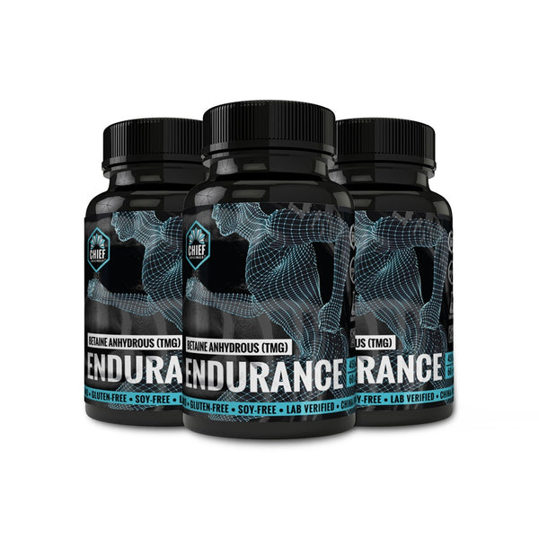 Betaine Anhydrous (TMG) Endurance 450mg 60 Caps (3-Pack)