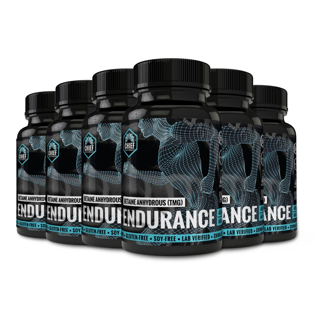 Betaine Anhydrous (TMG) Endurance 450mg 60 Caps (6-Pack)