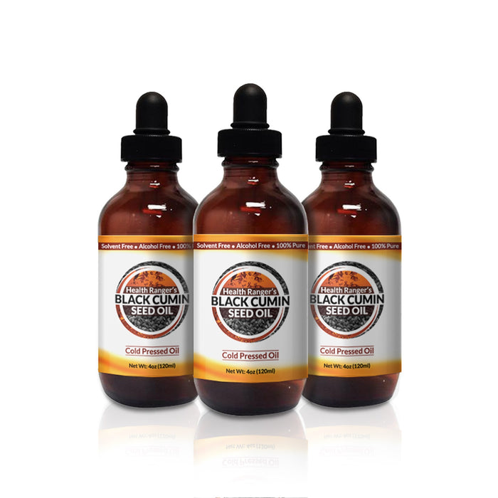 Health Ranger's Black Cumin Seed Oil 4oz (3pack)