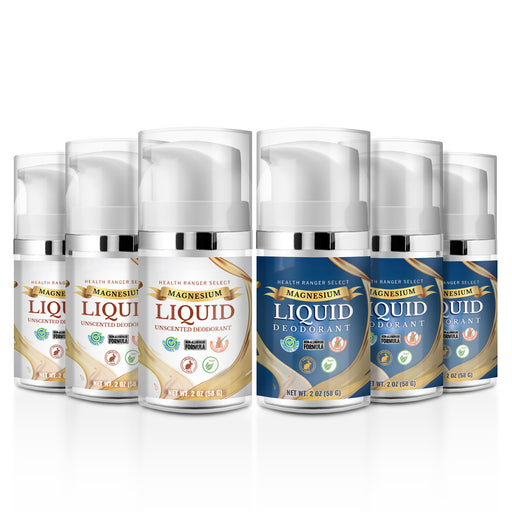 Magnesium Liquid Deodorant (Scented and Unscented) Combo (Over 3 Month Supply)* (6-Pack)