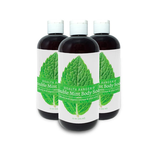 Health Ranger's Double Mint Body Soap 12oz (3-Pack)