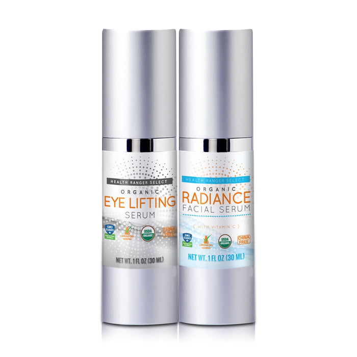 Organic Eye Lifting Serum + Organic Radiance Facial Serum Combo Pack