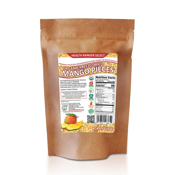Organic Freeze-Dried Mango Pieces 1.5oz (53g)