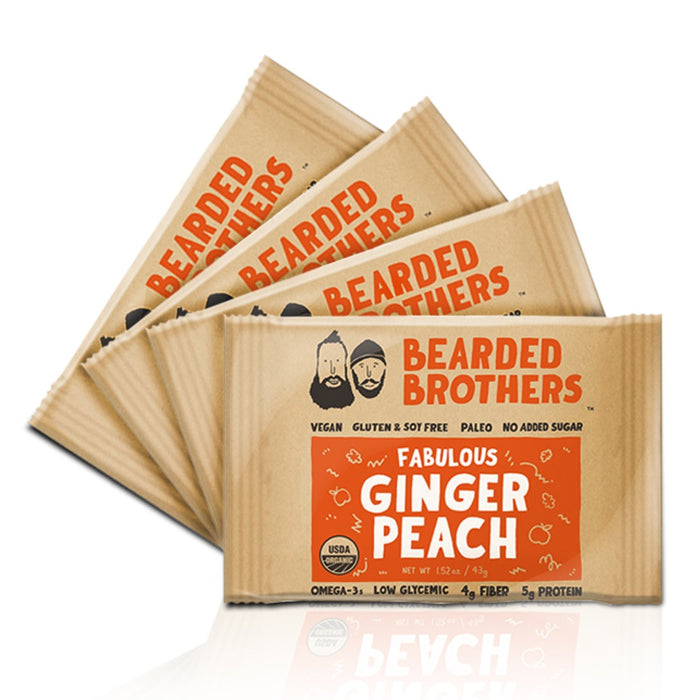 Fabulous Ginger Peach Energy Bars (4 Pack)