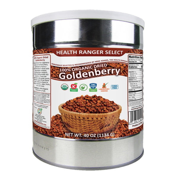 Organic Dried Goldenberry 40 oz (#10 can,  1134g)