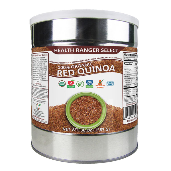 100% Organic Red Quinoa 56oz (#10 Can, 1587g)