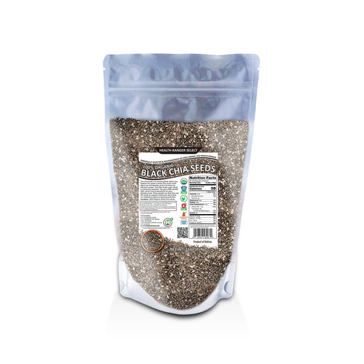 100% Organic Black Chia Seeds - 16oz (454g)