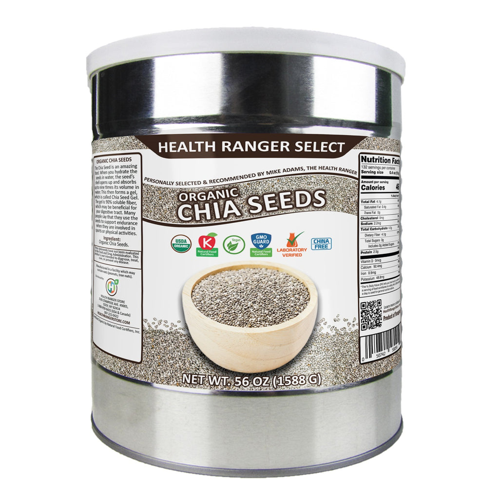Organic Chia Seeds 56oz, #10 can