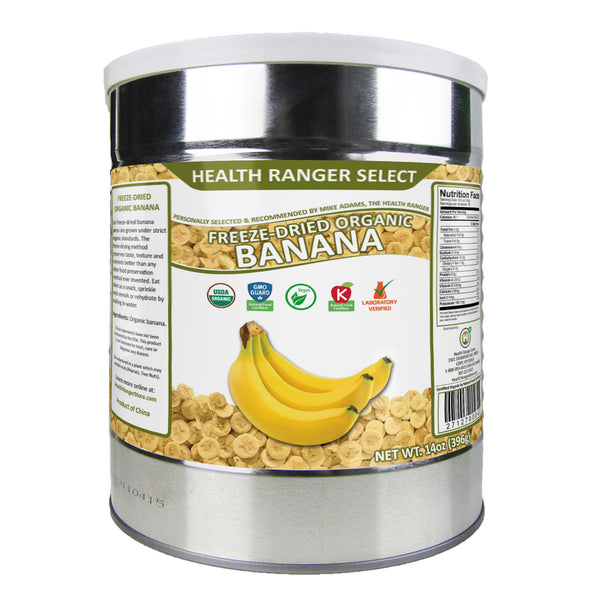 Freeze Dried Organic Banana (14oz, #10 can)