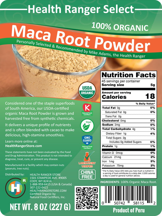 100% Organic Maca Root Powder (8oz)