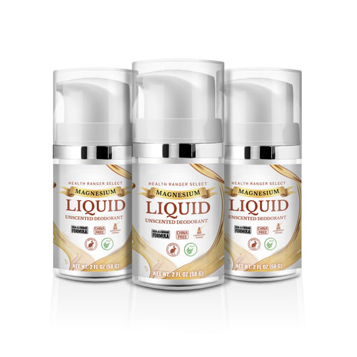 Magnesium Liquid Unscented Deodorant 2fl oz (58g) (3-Pack)