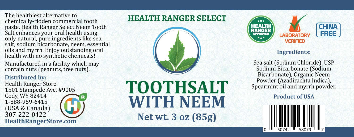 Health Ranger Select Toothsalt with Neem 3oz (85g) (3-Pack)