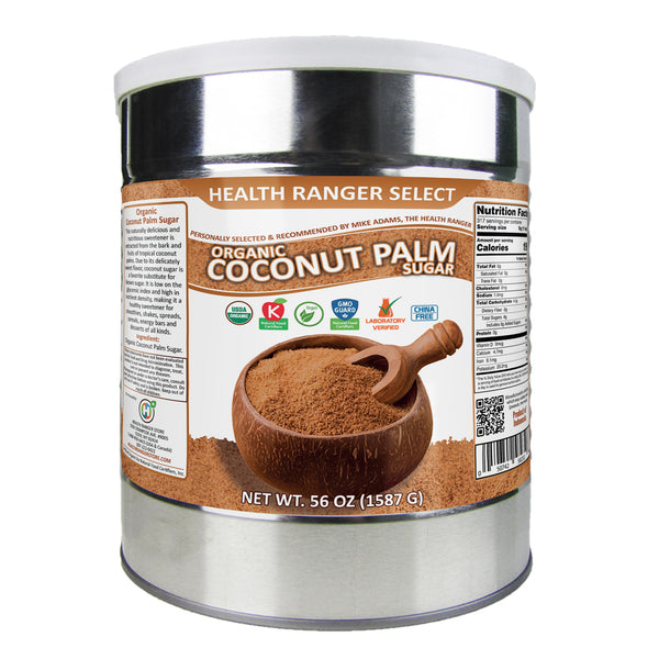 Organic Coconut Palm Sugar 56 oz (#10 can, 1587g)